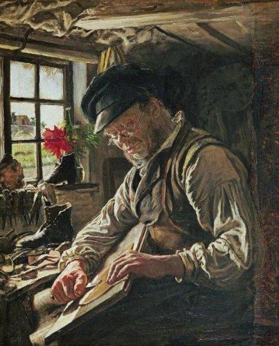 A Shoemaker In Arildsleje 22 x 17.756 Art Print On Canvas