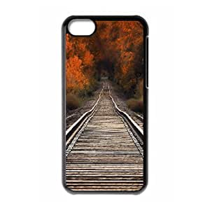View from Railway Bridge Autumn IPhone 5C Case, Iphone 5c Cases for Guys Protector Cute Dustin - Black