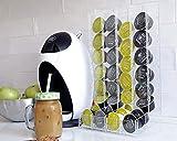 Coffee Pod Holder, Clear Coffee 32 Capsules Storage, Kitchen Organize