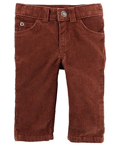 Carter's Boy's Brown Button Front Corduroy Pants (6 Months)