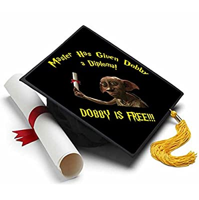 Dobby is Free Grad Cap Tassel Topper - Decorated Grad Caps Harry Potter, Master