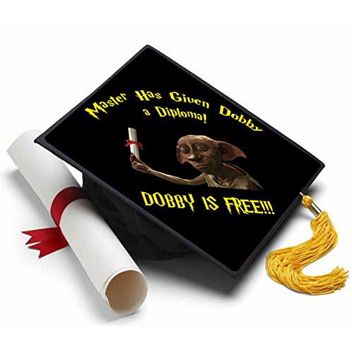 Tassel Toppers Dobby is Free Grad Cap Decorated Grad Caps Harry Potter, Master -