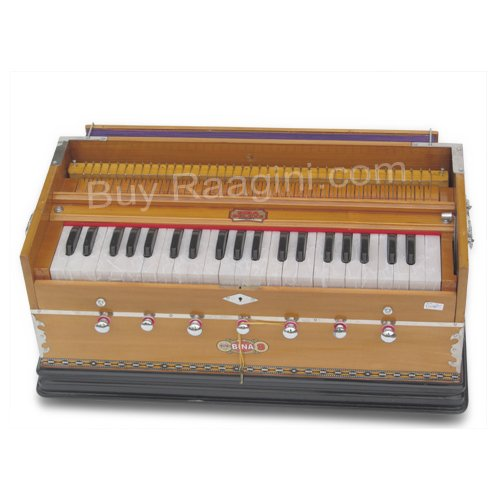 Harmonium, Musical Instrument, BINA No. 9A, In USA, 3 1/2 Octaves, 7 Stops, Standard, Tuned To A440, Natural Color, Coupler, Special Double Reeds, Bag, Book, (PDI-AGE) by Bina (Image #4)