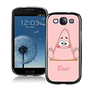 Unique And Lovely Designed Case For Samsung Galaxy S3 With Best Friend Spongebob Patrick Black Phone Case