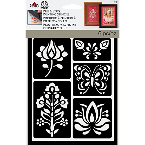 (FolkArt Painting Stencil, 5.875 by 8.25-Inch, 31489 Folkloric)