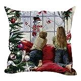 Throw Pillow Cover 18 x 18 Inches Christmas Series Snowman Cushion Cover Case Pillow Custom Zippered Square Pillowcase