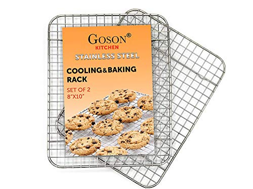 - Goson Kitchen Stainless Steel Heavy Duty Metal Wire Cooling, Cooking, Baking Rack For Baking Sheet, Oven Safe up to 575F, Dishwasher Safe Rust Free | 8