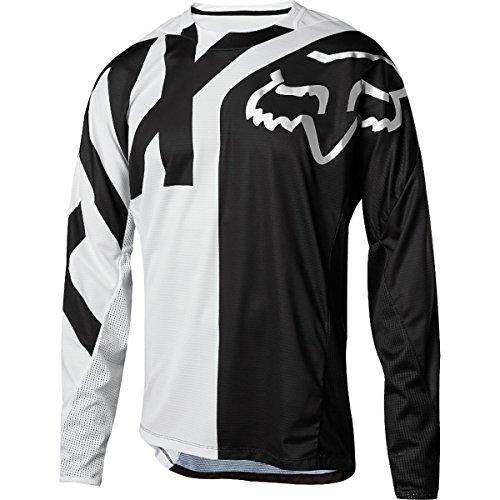 Fox Racing Demo Long-Sleeve Bike Jersey - Men's White/Black, L by Fox Racing