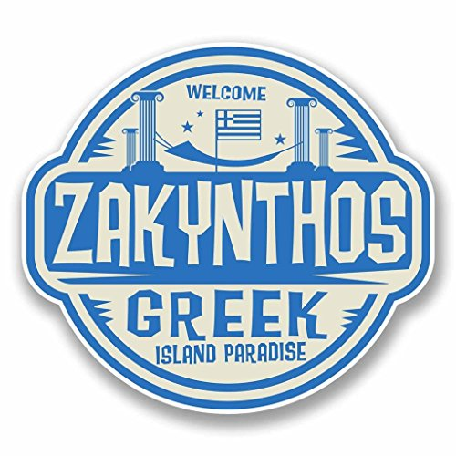 2 x 15cm/150mm Zakynthos Rhodes Greece SELF ADHESIVE, used for sale  Delivered anywhere in USA