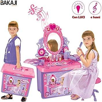 70 Specchiera Giocattolo per bambine specchio con accessori luci suoni alta cm
