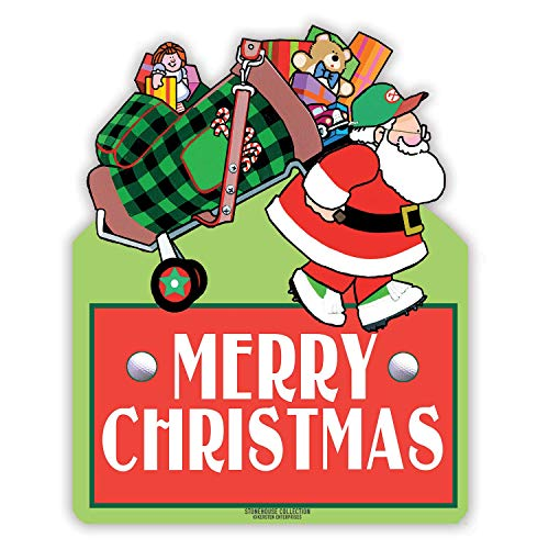 Collection Golf (Stonehouse Collection Golf Merry Christmas Yard Sign - Golf Yard Sign - Holiday Golf Yard Sign - 24 x 18 Inch Holiday Sign)
