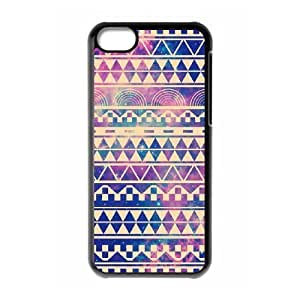 Cool Painting Aztec Tribal Pattern Use Your Own Image Phone Case for Iphone 5C,customized case cover case537275