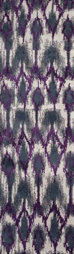 KAS Rugs Allure Collection Horizon Runner, 2-Feet 3-Inch X 7-Feet 6-Inch, Grey/Purple ALU405823X76RU