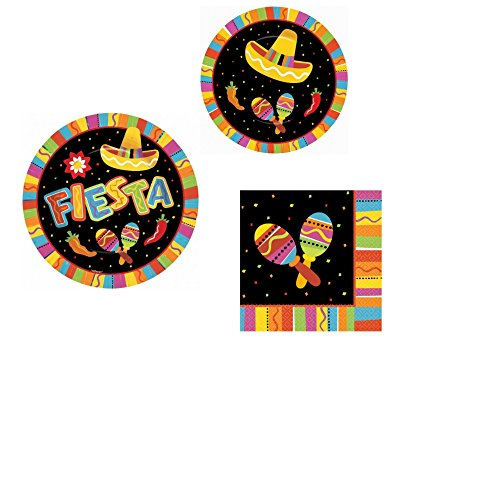 Fiesta Fun Party Pack (16 Fiesta Luncheon Napkins, 8 7