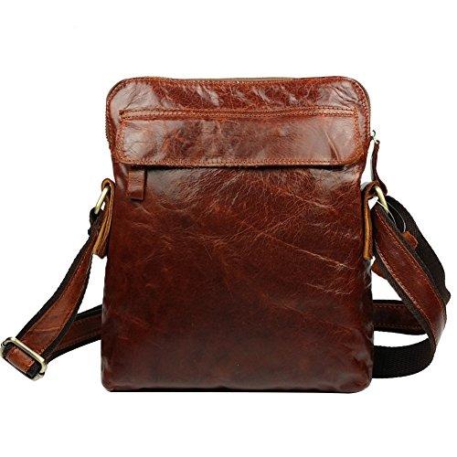 Genda 2Archer - Bolso al hombro para hombre Varios Colores multicolor Rojo-marrón