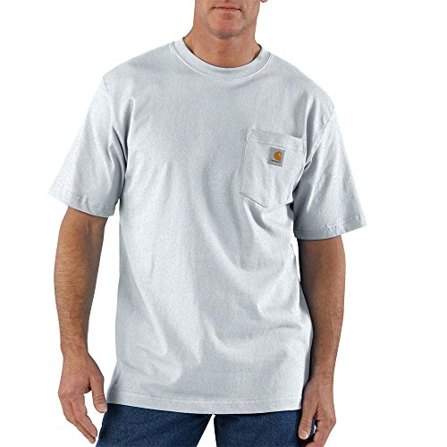 Carhartt Men's 'K87' Workwear Pocket Short-Sleeve T-Shirt, Ash, Large (Ash Short Sleeve T-shirt)