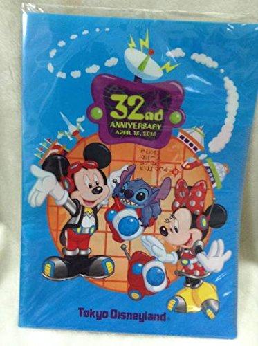 TDL ディズニーランド 32周年 クリアホルダー クリアファイル スティッチ ミッキー ミニーの商品画像