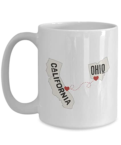 Amazoncom California And Ohio Ceramic Coffee Mug Tea Cup