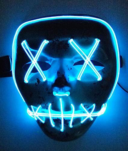 Festival Costumes For Kids - Halloween Mask Cosplay LED Light up