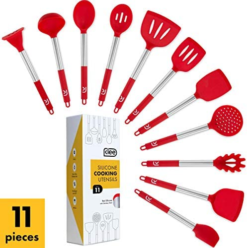 11 Piece Nonstick Silicone Cooking Stainless product image