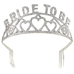 Forum Novelties Glitter Tiara (Bride to Be)(Discontinued by manufacturer)