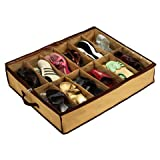 Flying Birds 12 Pair Shoes Storage Organizer Bag/ Box Under Bed Closet Canvas(FB-120)