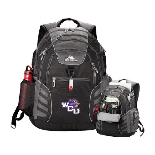 Western Carolina High Sierra Big Wig Black Compu Backpack 'WCU w/Head'