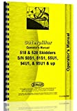 Caterpillar 518 Skidder Operators Manual