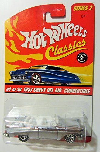 Hot Wheels 1957 Chevy BEL AIR Convertible (Silver) 2005 Classics 1:64 Scale Series 2 Die Cast Vehicle (Convertible Air Bel Chevy)
