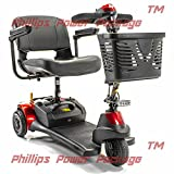 Merits Health Products - Roadster Deluxe - 3-Wheel Scooter - 18''W x 15''D - Red - PHILLIPS POWER PACKAGE TM - TO $500 VALUE