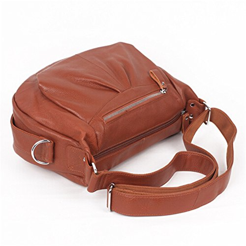 Layer brown Messenger Handbags Shoulder Bag Retro Cowhide Leather Bag Brown First zq7w0t