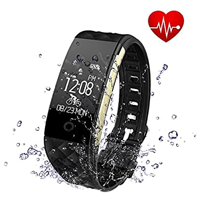 Fitness Tracker, Toprime Waterproof Activity Tracker with Heart Rate Monitor Sleep Monitor Pedometer Calorie Counter, Smart Watch for Android and IOS