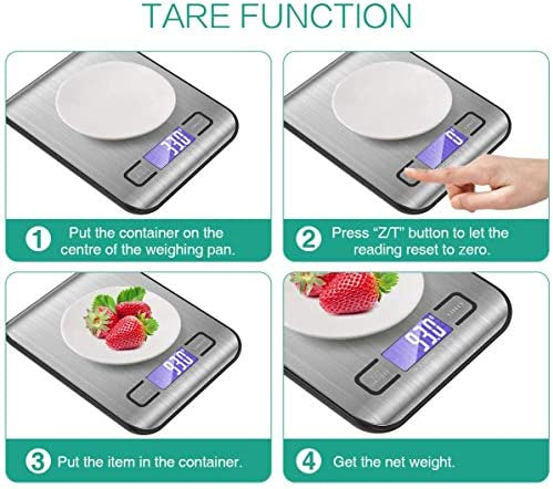 Kitchen Scale,YIHAO 10Kg/1g Multifunction Precision Food Scale Weight Grams and oz, Ultra Slim Design Electronic Food Cooking Scales with Backlight LCD Screen.