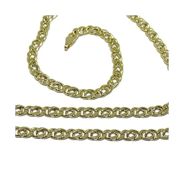 Cadena de Oro Amarillo para Hombre de 4mm de Ancha y 60cm de Larga Cierre mosquetón Cadena de Oro Amarillo para Hombre de 4mm de Ancha y 60cm de Larga Cierre mosquetón Cadena de Oro Amarillo para Hombre de 4mm de Ancha y 60cm de Larga Cierre mosquetón
