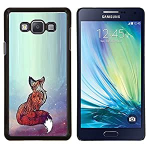 Eason Shop / Premium SLIM PC / Aliminium Casa Carcasa Funda Case Bandera Cover - Rojo lindo animal del arte hermoso brillante - For Samsung Galaxy A7 ( A7000 )