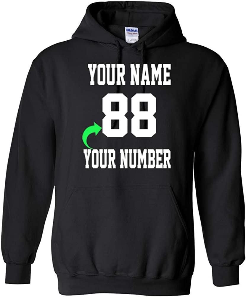Personalized Hoodie with Custom Name and Number Unique Stylish Team Sports Gift