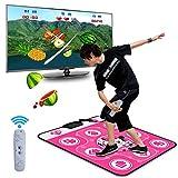 QXMEI Somatosensory Dance Mat Computer TV Dual-use Massage Blanket LED Projection Blanket,Pink