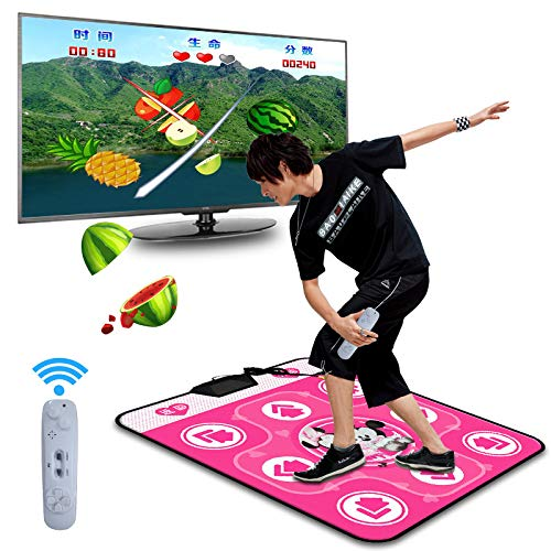 QXMEI Somatosensory Dance Mat Computer TV Dual-use Massage Blanket LED Projection Blanket,Pink by QXMEI (Image #7)