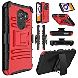 T-Mobile REVVL Case, Alcatel A30 Plus Fierce Case, Elegant Choise Heavy Duty Dual Layer Shockproof [Swivel Belt Clip] Holster with [Kickstand] Combo Rugged Case Cover for Alcatel Walters(Red/Black) Review