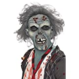 Smiffys Mens Decaying Zombie Mask with Hair