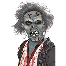 Smiffys Men's Decaying Zombie Mask, Grey, One Size, 36852