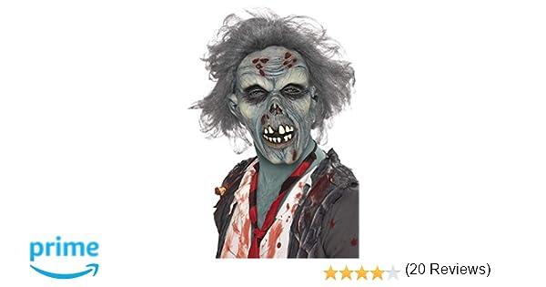541e9722d Máscara de Zombie con Cabellos Adulto  Smiffys  Amazon.es  Juguetes y juegos