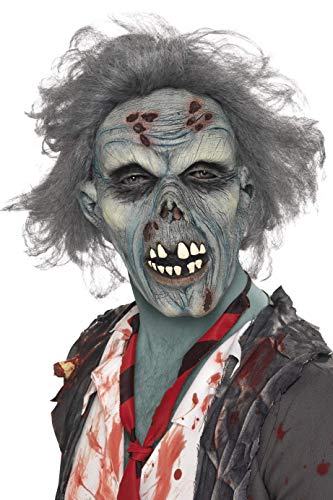 Smiffys Men's Decaying Zombie Mask, Gray, One Size,