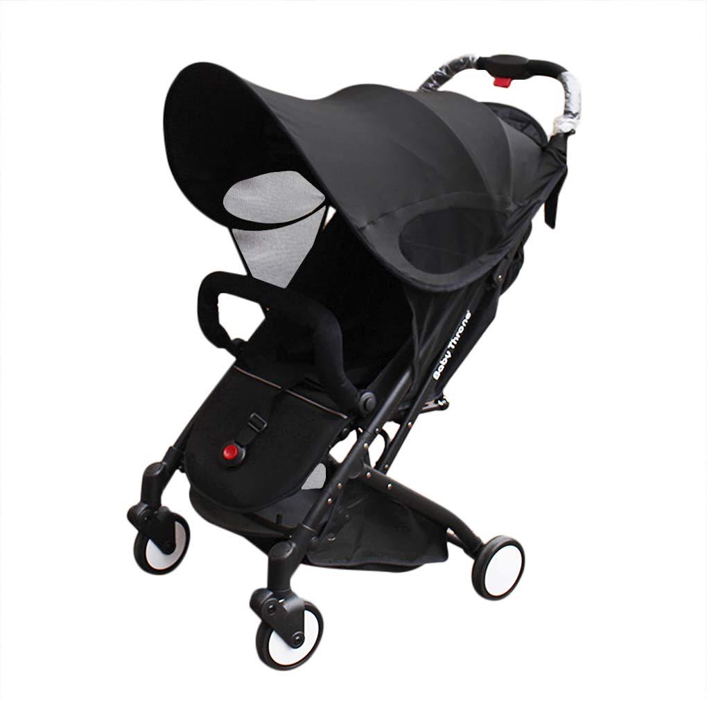 Baby Stroller Sun Shade Sun Protection Pram for Strollers Car Pushchair Buggy Sunshade Parasol Sun Rain Canopy Cover Protection Stroller Accessories Awning Anti-UV Umbrella Sun Shade by Clobeau