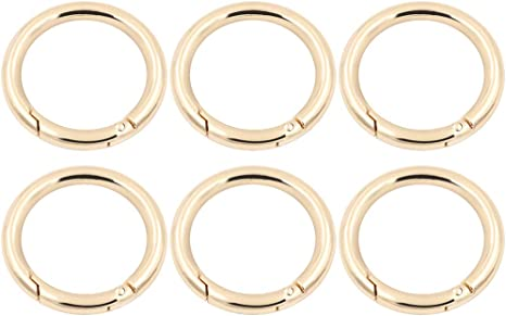 """0.98/"""" Round Spring Snap Hooks Clips Carabiners Gate O Ring Keyring Brass"""