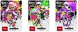 Splatoon 2 amiibo 3 sets (Girl Neon Pink, Boy Neon Green, Squid Neon Purple) (Splatoon series)