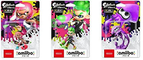 Splatoon 2 amiibo 3 sets (Girl Neon Pink, Boy Neon Green, Squid Neon Purple) (Splatoon series) by Nintendo