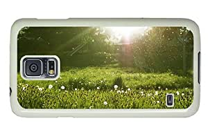 Hipster Samsung Galaxy S5 Case shop covers dandelion meadow PC White for Samsung S5