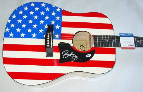 Buddy Jewell Autographed Signed Flag Guitar PSA DNA Certified AFTAL