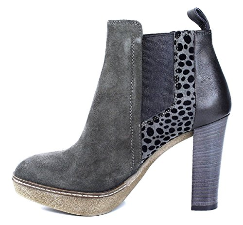 Maripe Stiefelette High Heel grau topo animal metallic Grau